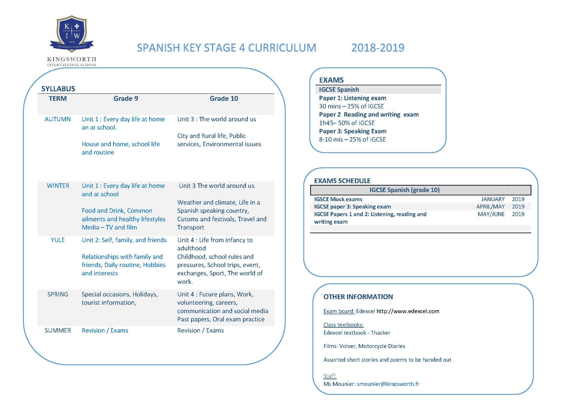 Igcse Exam Dates 2019