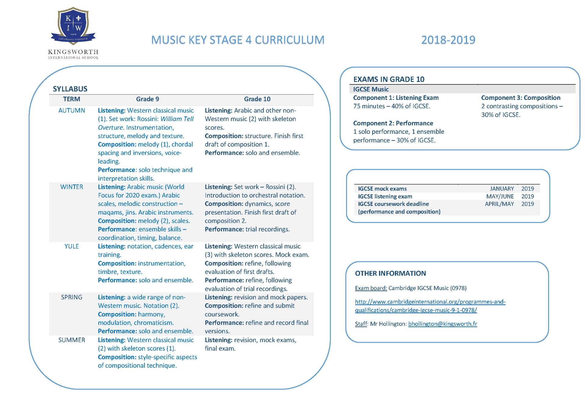 Cambridge Igcse Timetable 2019